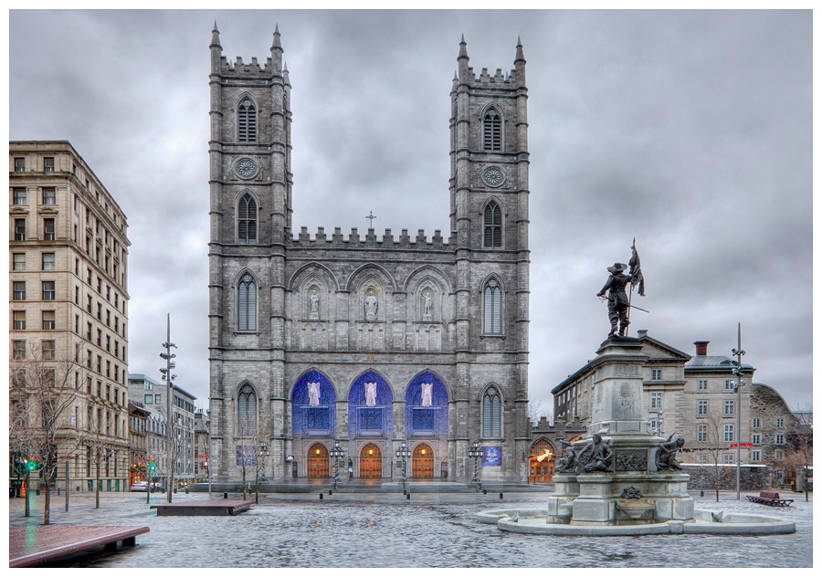 HDR Photography-Notre Dame Basilica,Old Montreal,Quebec