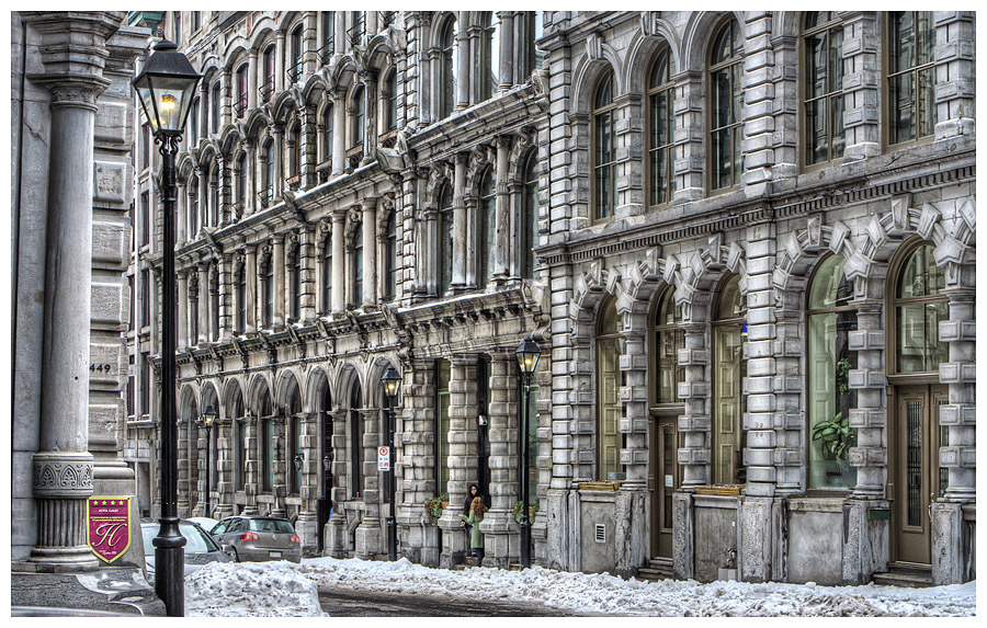 Old Montreal Facade Architecture