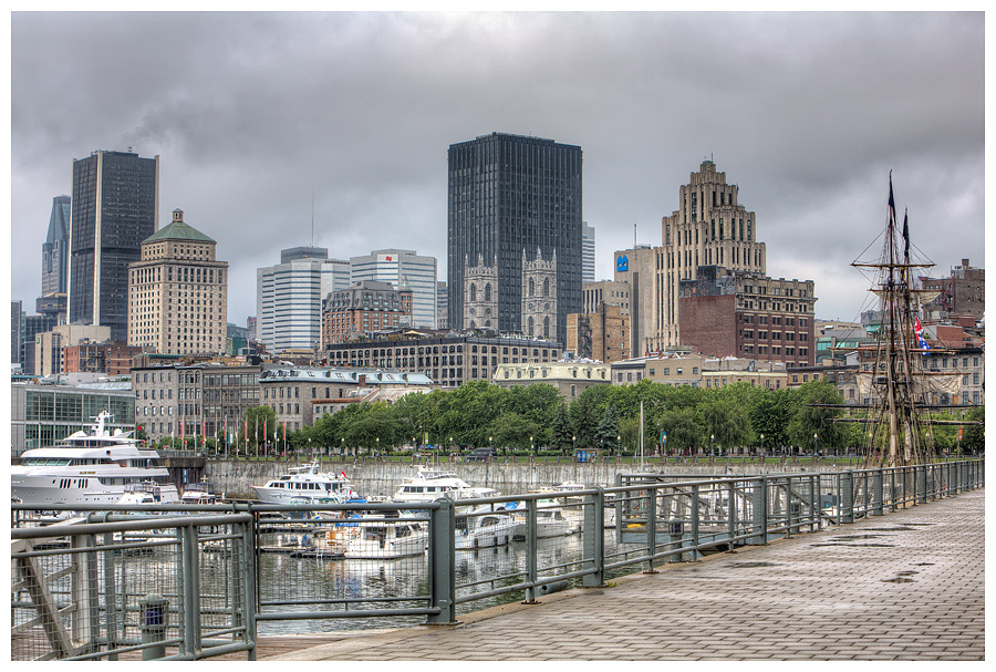 The Quay in Old Montreal Quebec