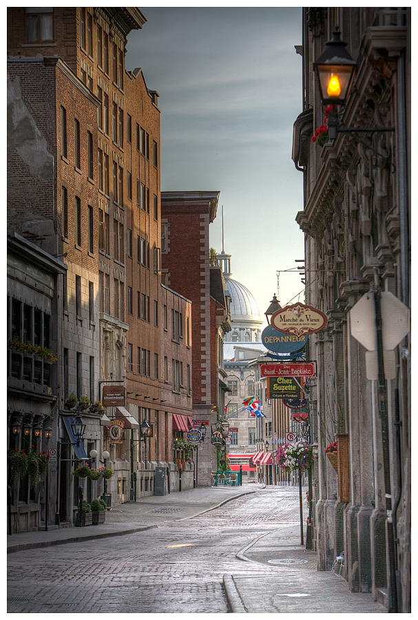 HDR Photography Rue St. Paul Old Montreal