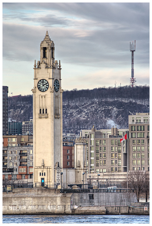 Victoria Pier Clock Tower Montreal Quebec